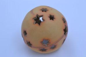 Dekorativní koule Hvězdičky 15 cm Přírodní