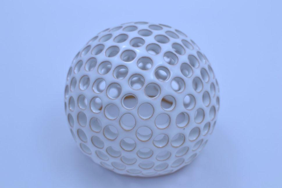 Dekorativní koule Kuličky 15 cm Bílá