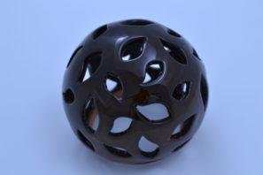 Dekorativní koule Slzy 15 cm Starohnědá